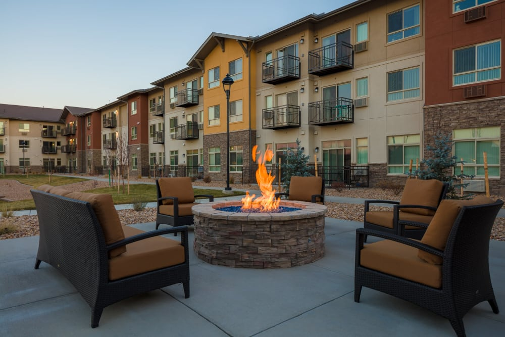 Fire pit at Affinity at Fort Collins