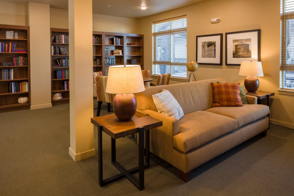 Reading room at Affinity at Fort Collins