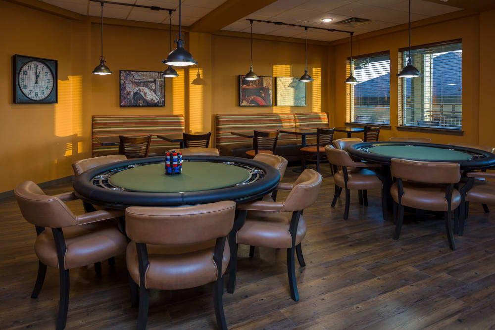Card room at Affinity at Fort Collins