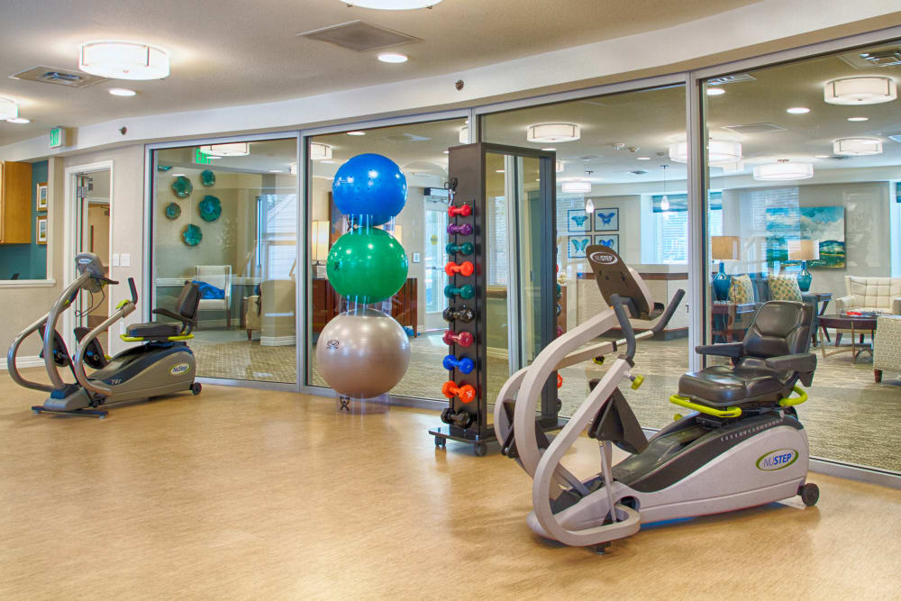 The therapy gym in Someren Glen's Transitional Care Neighborhood