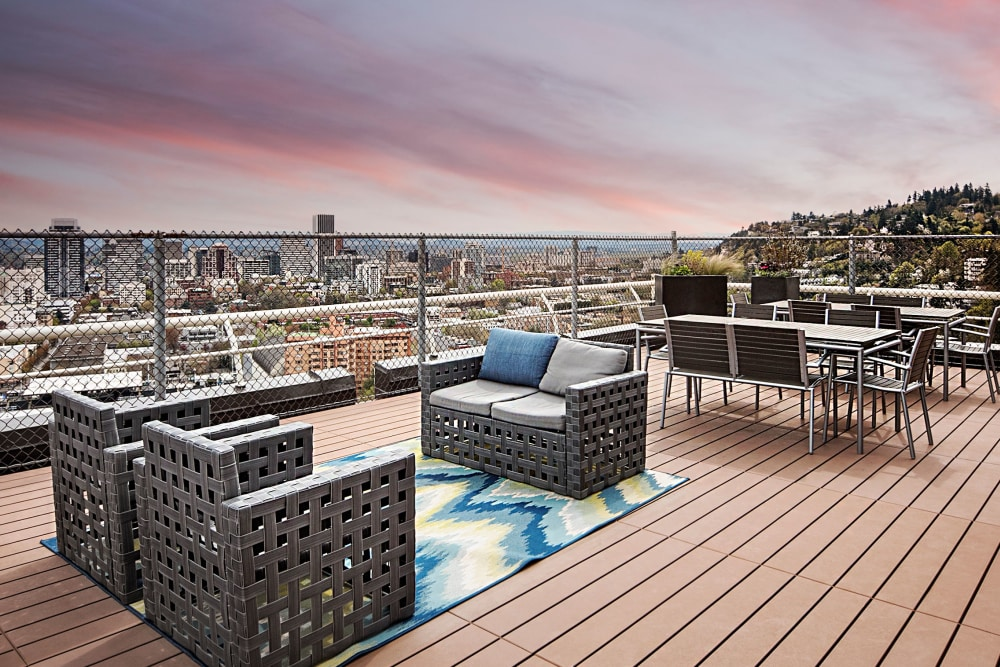 Grab with friends on the rooftop terrace at 735 St. Clair