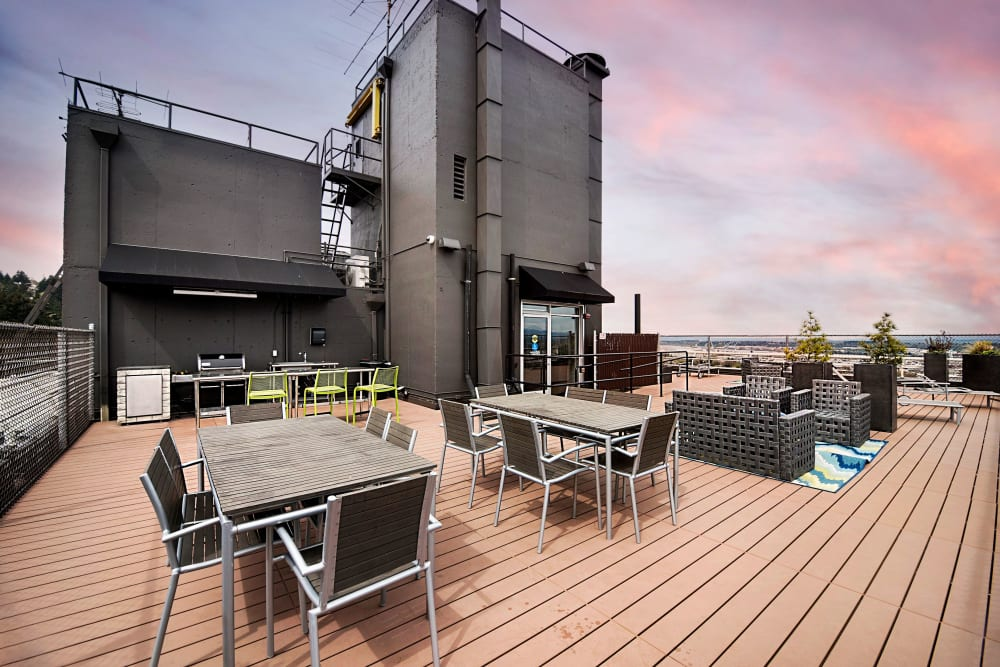 Enjoy a meal overlooking Downtown Portland at 735 St. Clair