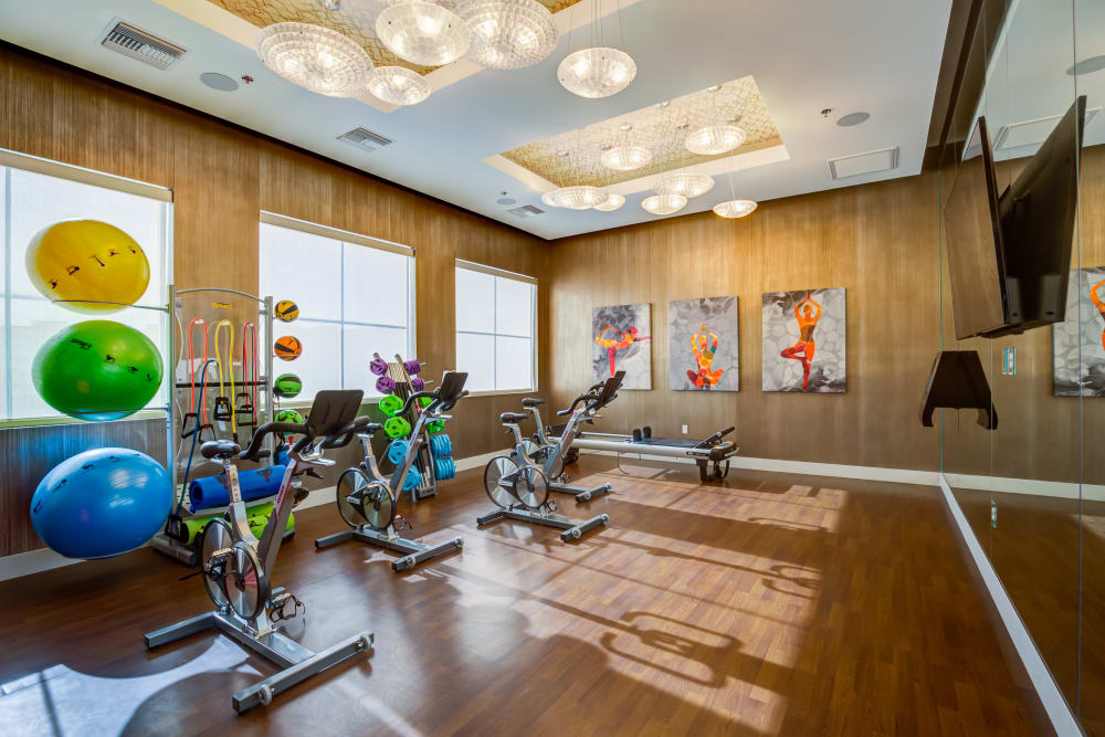 Fitness center at Zerzura Apartments in Las Vegas, Nevada