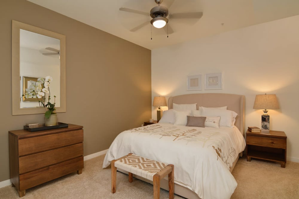 Bedroom at Chateau Woods Apartments