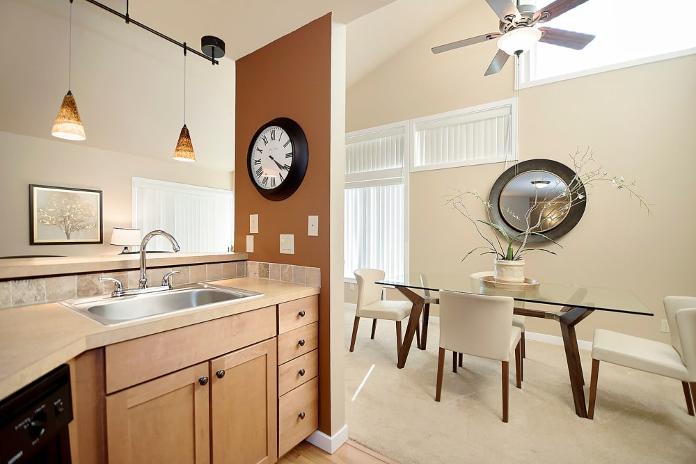 Open floor plans at Sunset Summit Apartments in Portland, OR