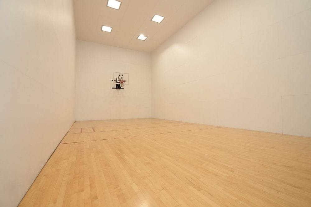 Racquetball court at Sunset Summit Apartments in Portland, OR