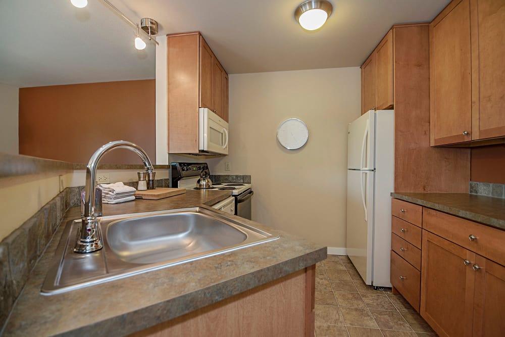 Kitchen at Sunset Summit Apartments