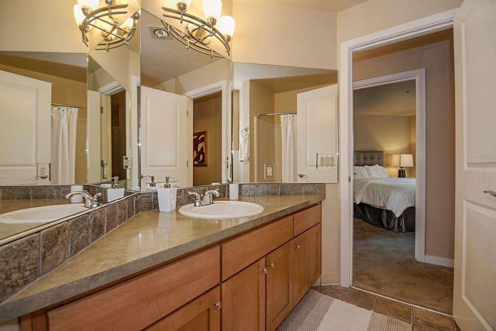 Bathroom at Sunset Summit Apartments