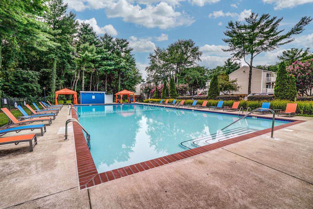 Swimming pool at Aston Ridge Apartments in Richmond, Virginia