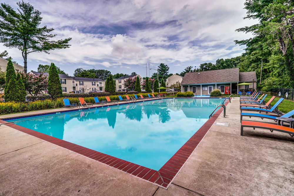 Sparkling pool at Aston Ridge Apartments in Richmond, Virginia