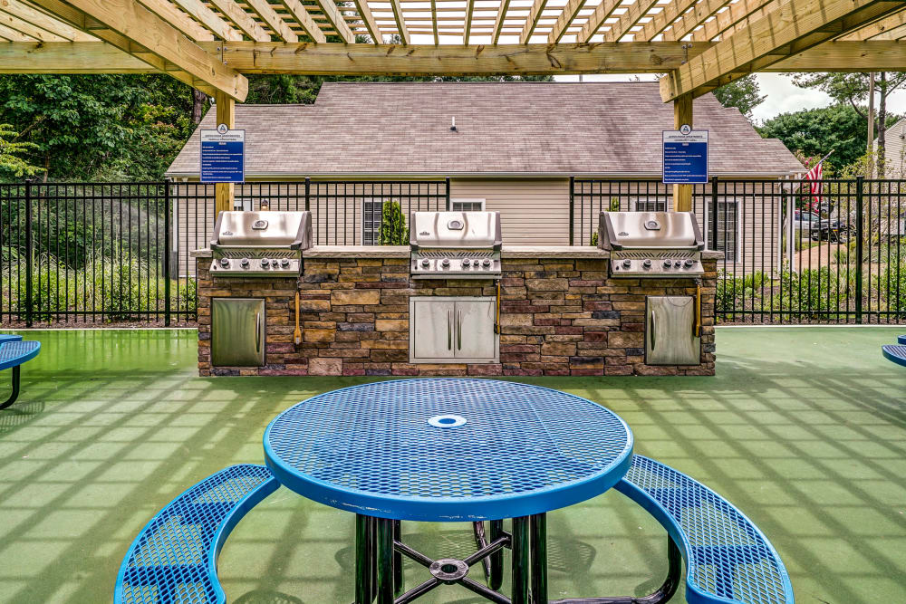 Grilling area at Aston Ridge Apartments in Richmond, Virginia