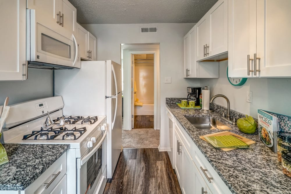 Fully-equipped kitchen at Aston Ridge Apartments in Richmond, Virginia