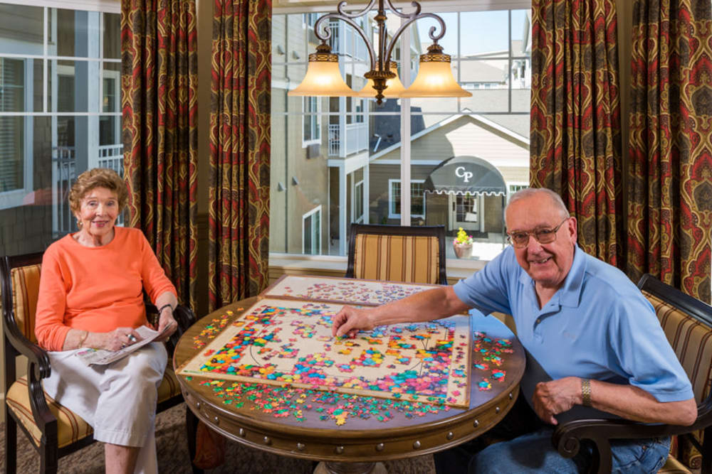 Puzzles in the Game Room At Our Longview Senior Living Community