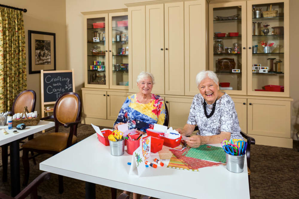 Art Studio for Crafting Activities At Our Longview Senior Living Community