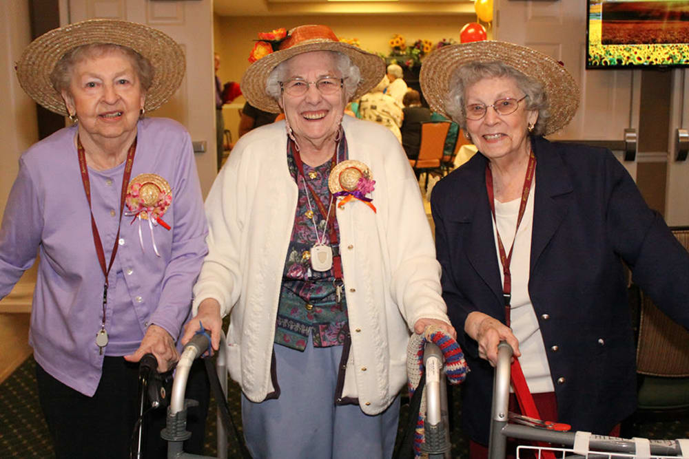 Residents at Arbour Square of Harleysville enjoying a party