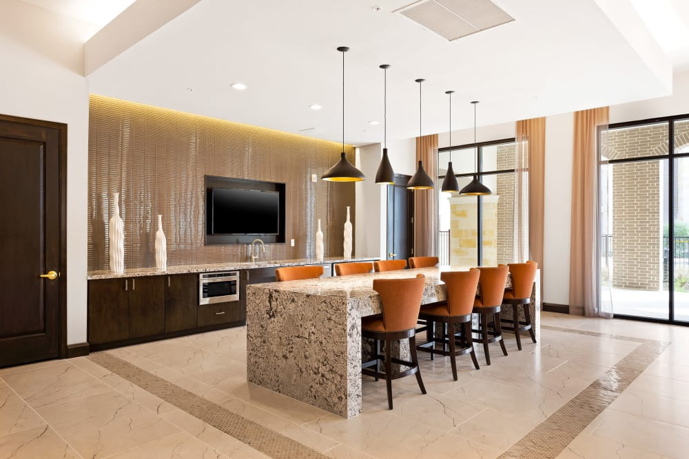 Clubhouse kitchen area at Villas at the Rim in San Antonio, Texas