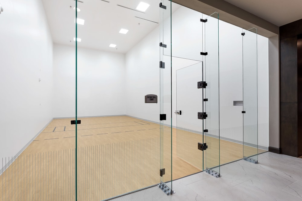 Racquetball court at Villas at the Rim in San Antonio, Texas