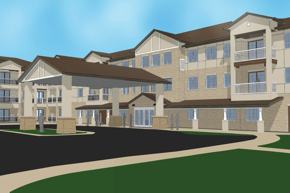 Rendering of The Enclave at Round Rock Senior Living in Round Rock, Texas