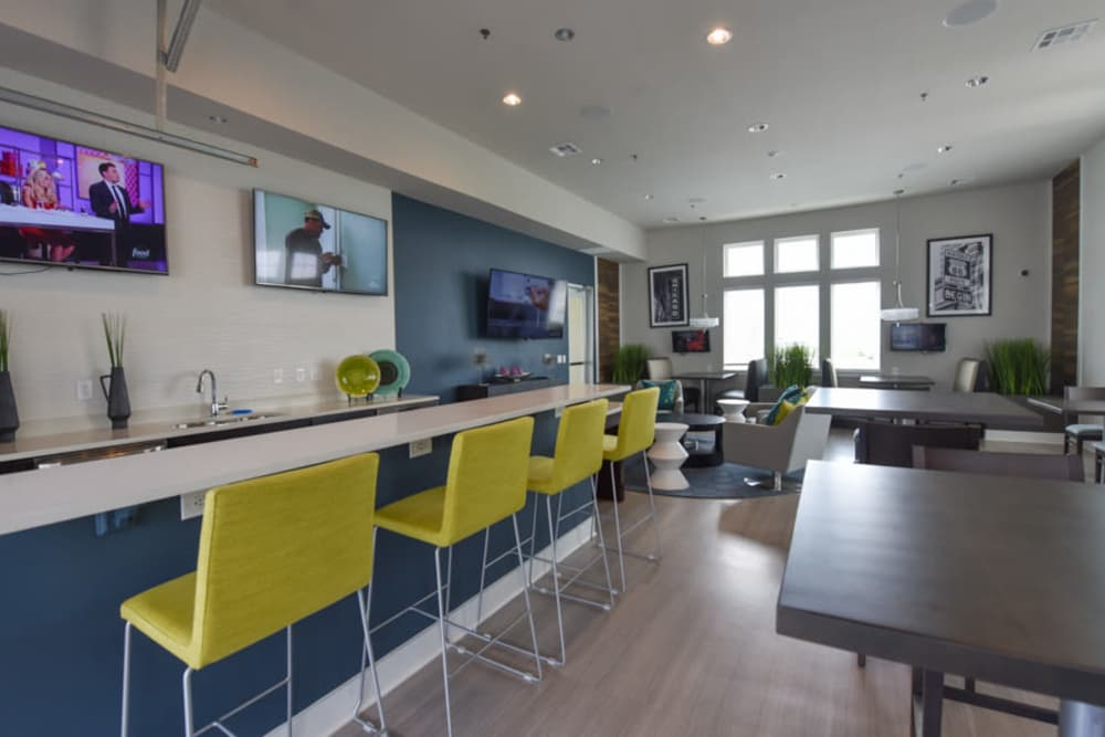Interior of the Community Clubhouse at the Springs at Lakeline Apartments