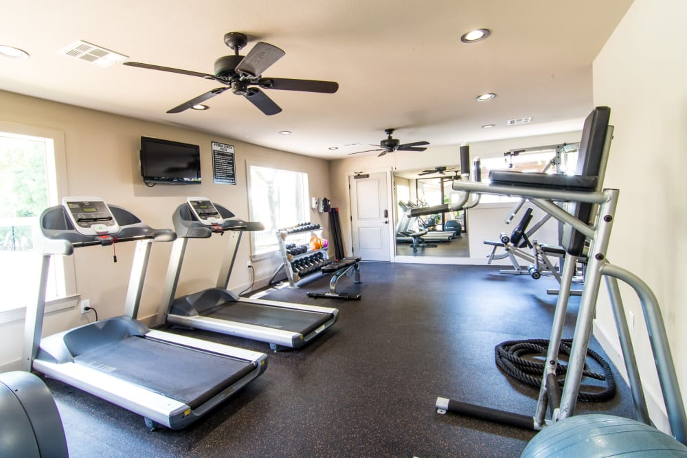 Cardio equipment at Deerbrook Forest Apartments