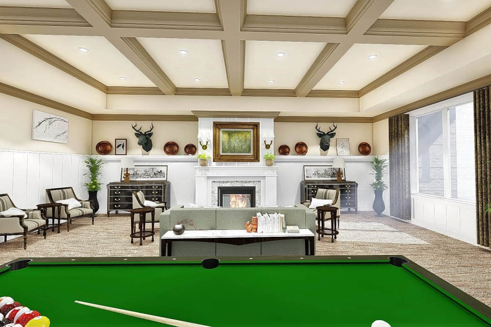 Billiards room at The Park at Surprise
