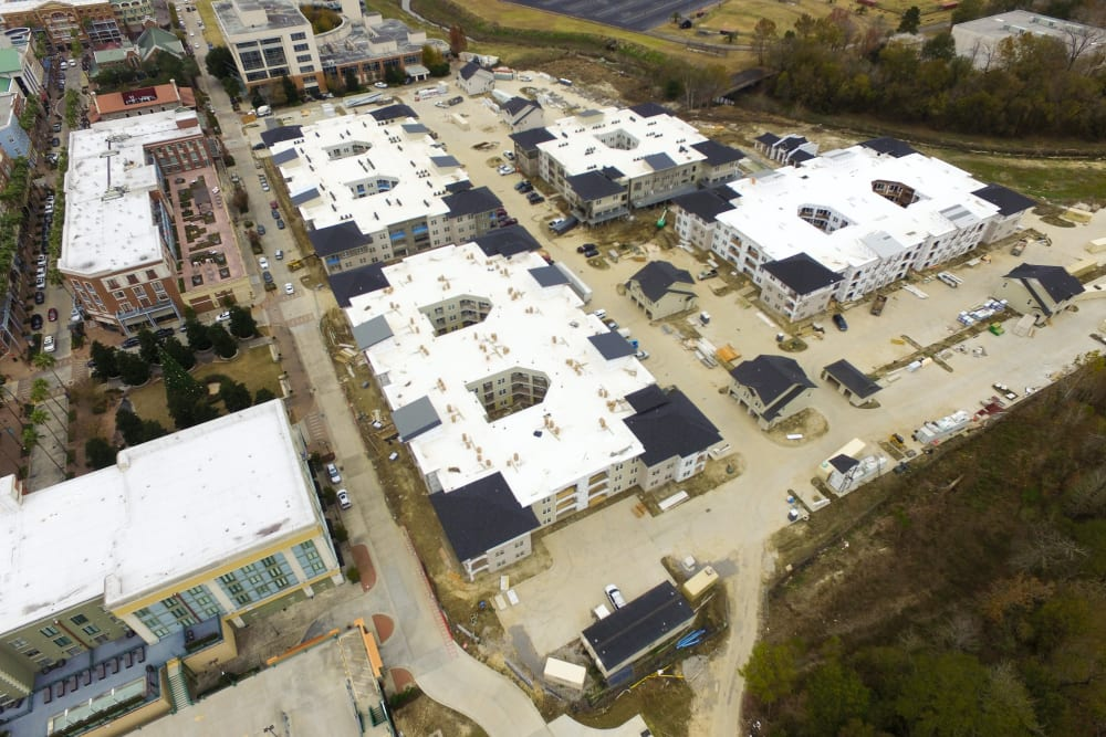 Panoramic view of local neighborhood in Baton Rouge, Louisiana