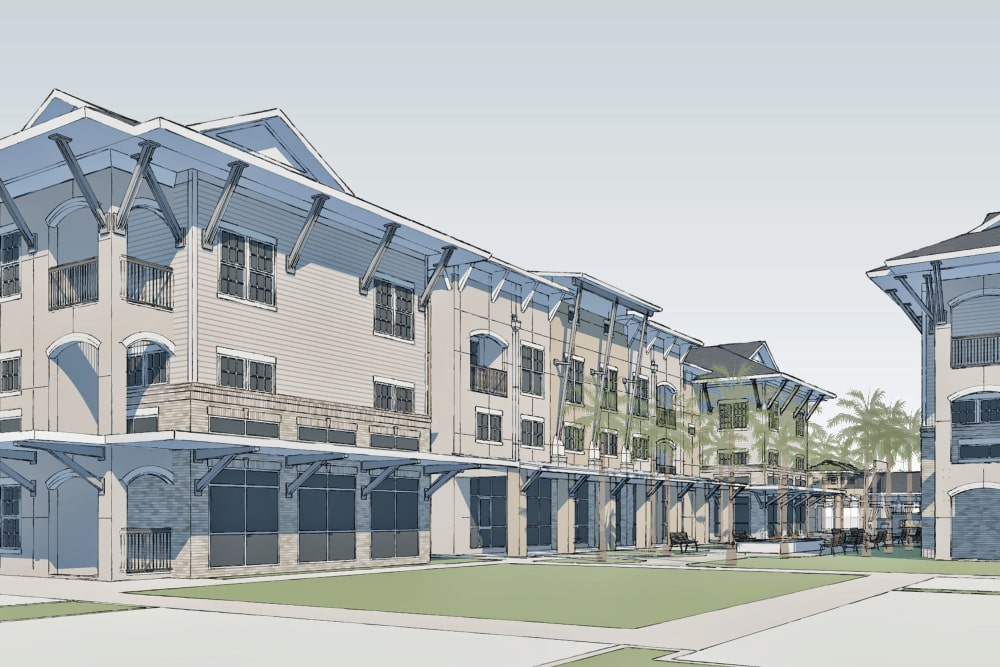 Render of Park Rowe Village at Perkins Rowe