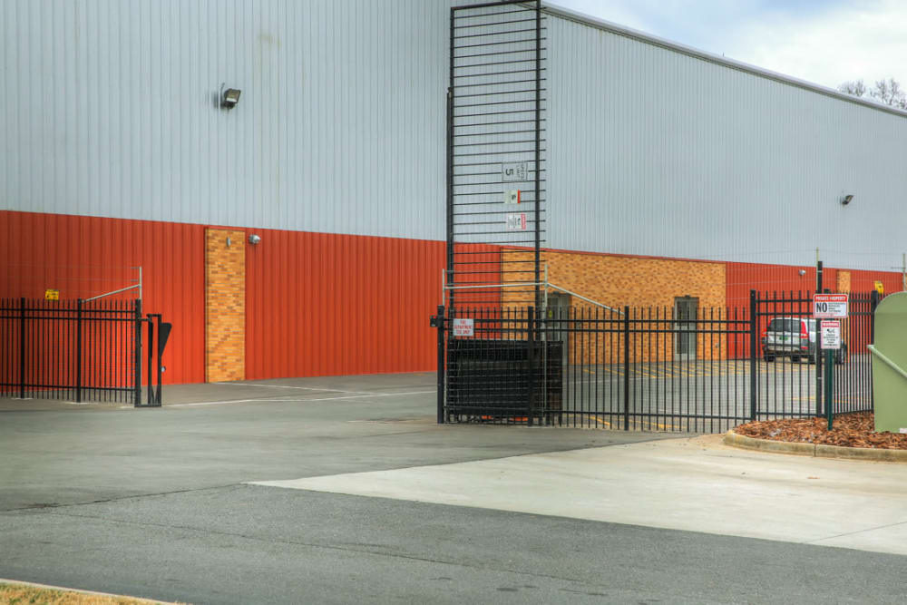 security gate at Atlantic Self Storage