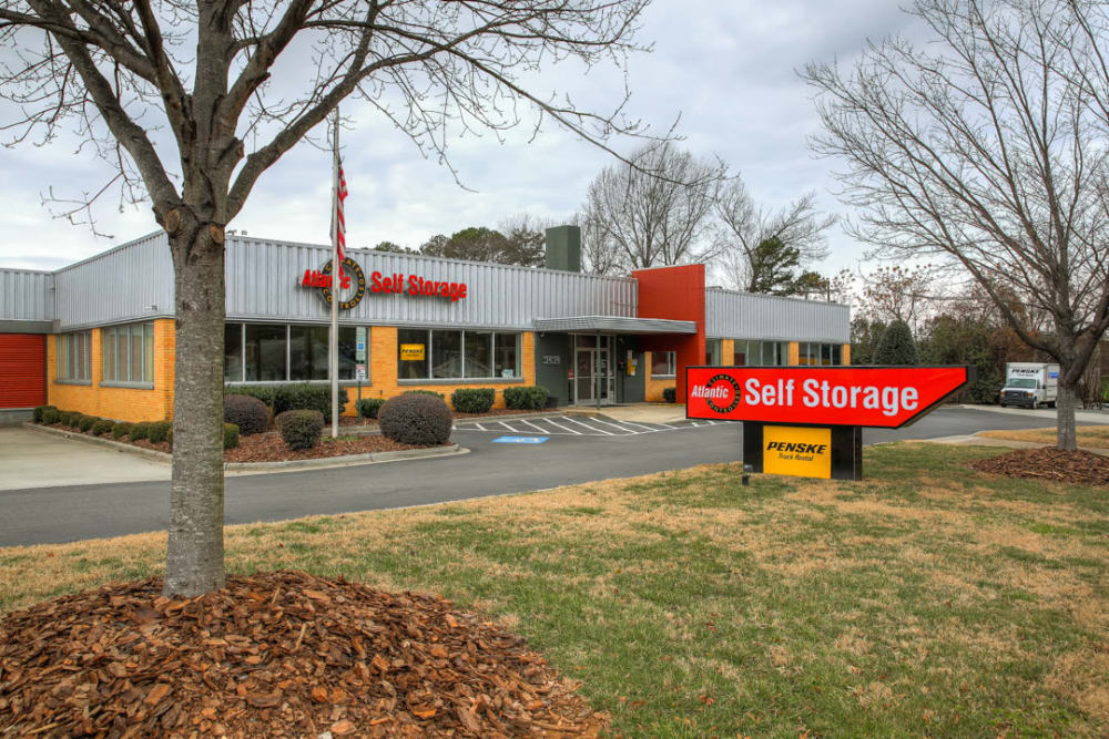 exterior of Atlantic Self Storage