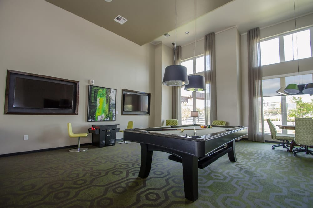 Pool table at GreenVue Apartments in Richardson
