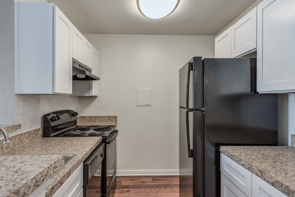 Enjoy a fully equipped kitchen at Rock Creek apartments