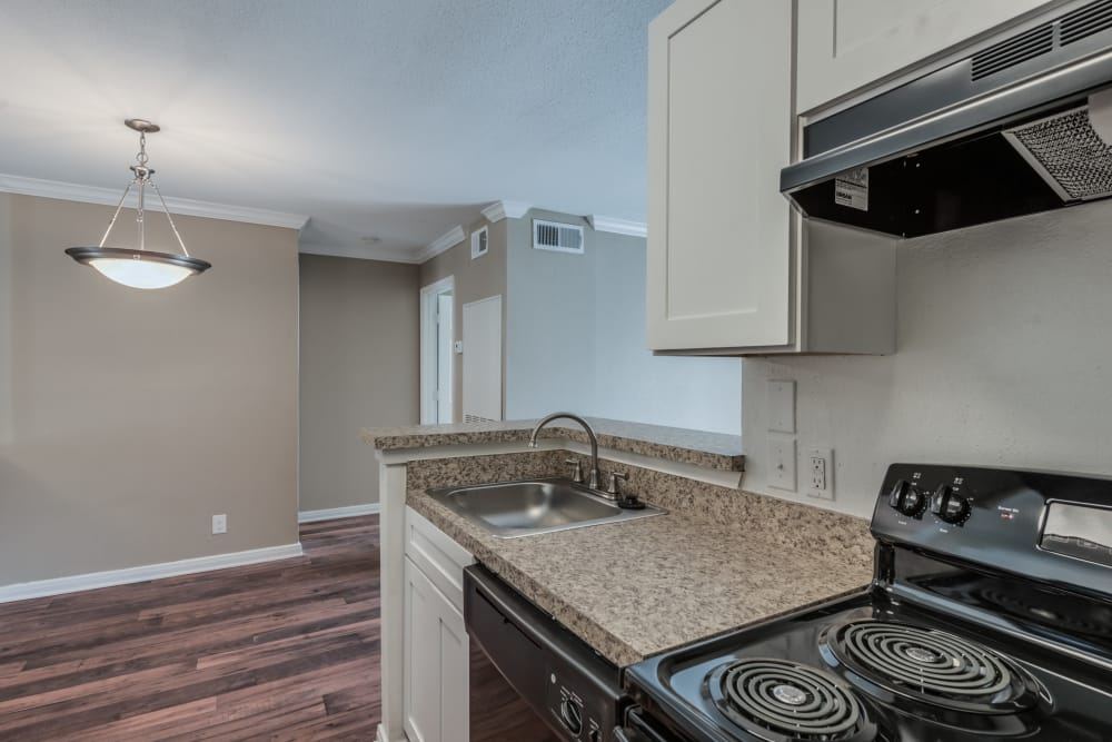 Well equipped kitchen at Rock Creek apartments