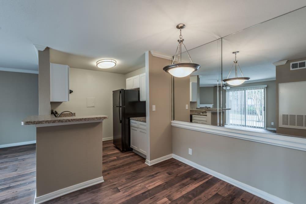 Kitchen view at Rock Creek apartments