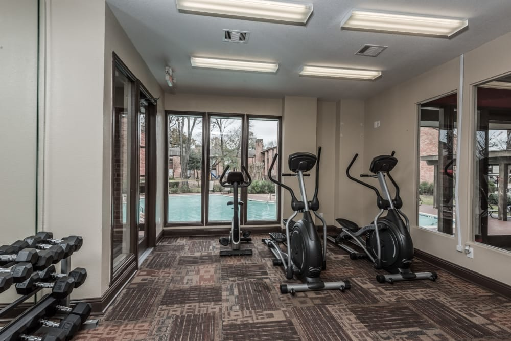 Rock Creek apartments offers a fitness center
