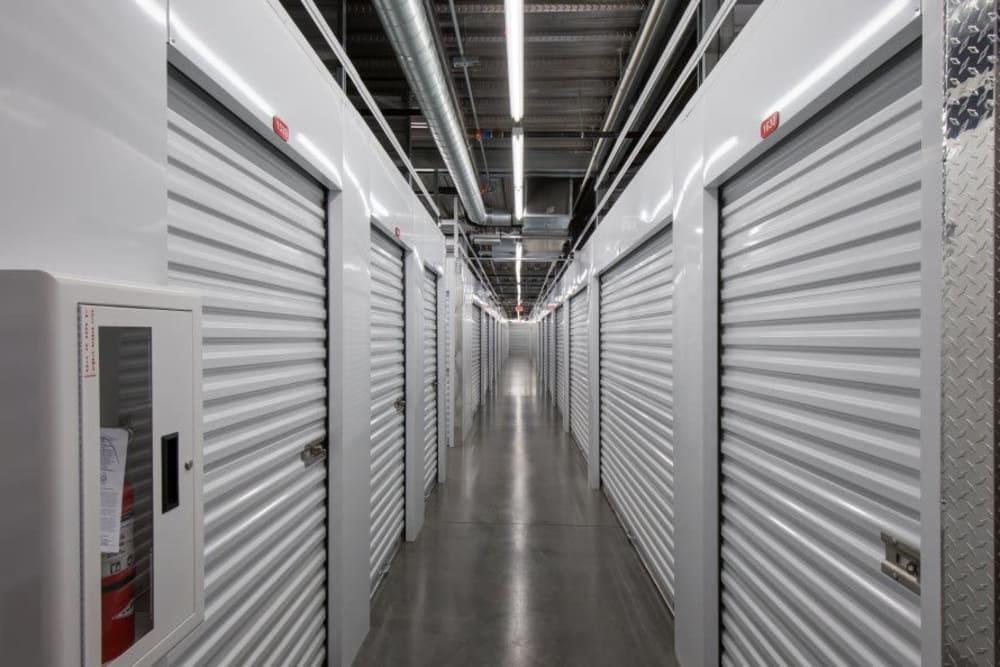 White storage units at Advantage Storage - Glendale