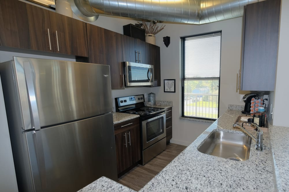 Our apartments in Plymouth, Michigan showcase a beautiful kitchen