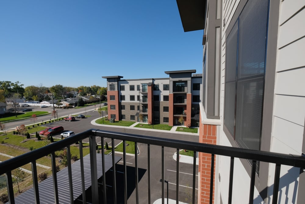 Enjoy apartments with a state-of-the-art private balcony at Starkweather Lofts