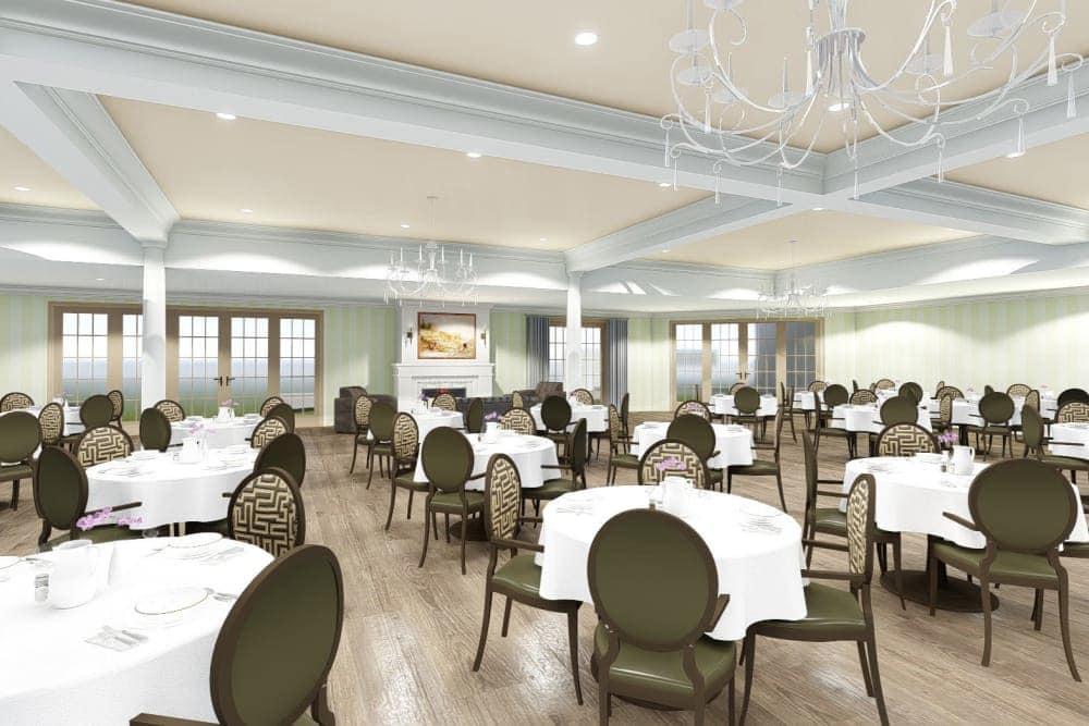 Dining hall at The Park at Modesto