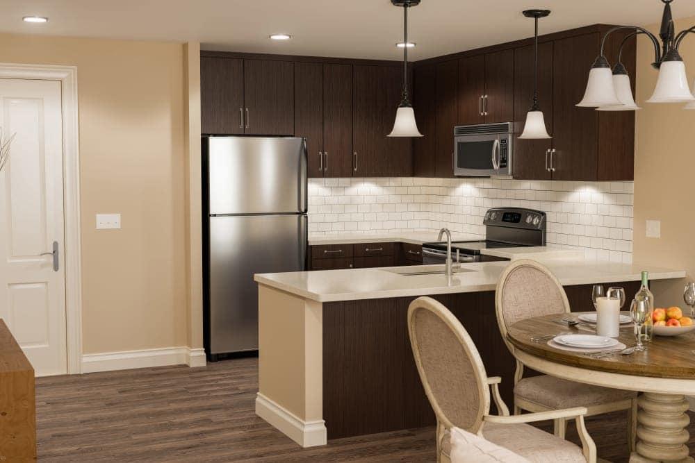 Beautiful kitchen at The Park at Modesto apartments