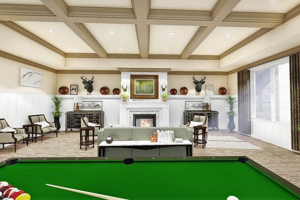 Billiards room at The Park at Copper Creek