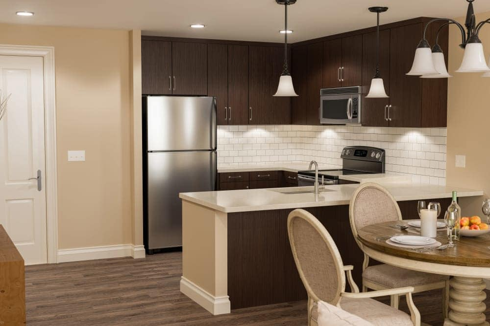Beautiful kitchen at The Park at Copper Creek apartments