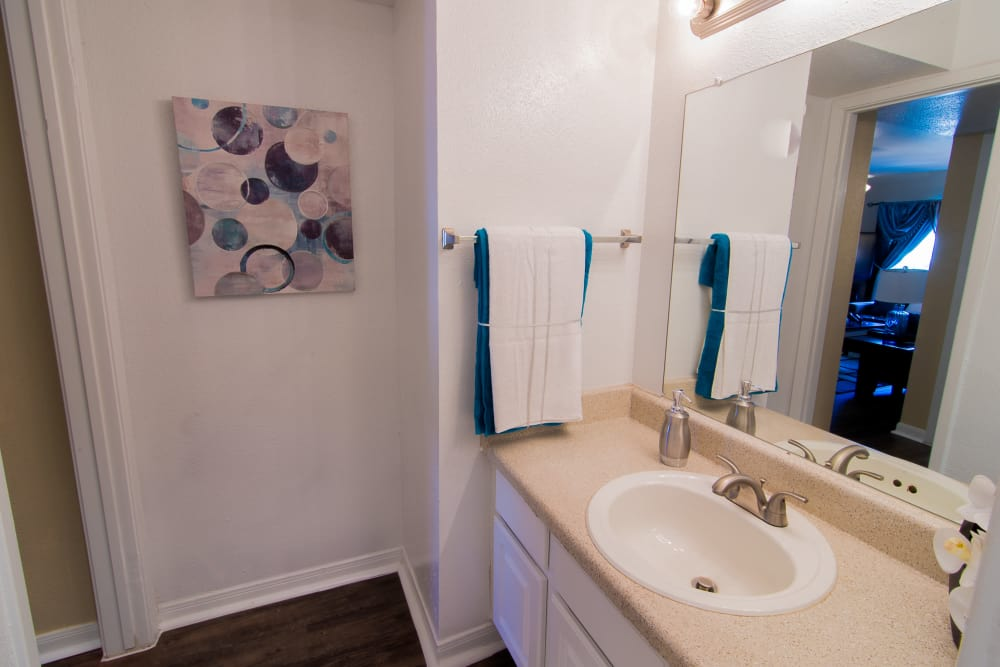 Bathroom at Parkside Apartments