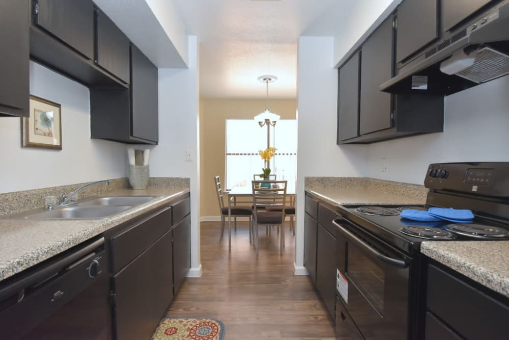 Kitchen at Green Meadows Apartments