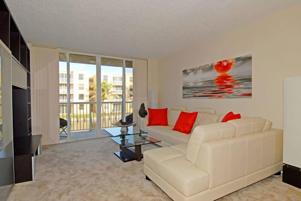 A spacious living room at Beach Walk at Sheridan