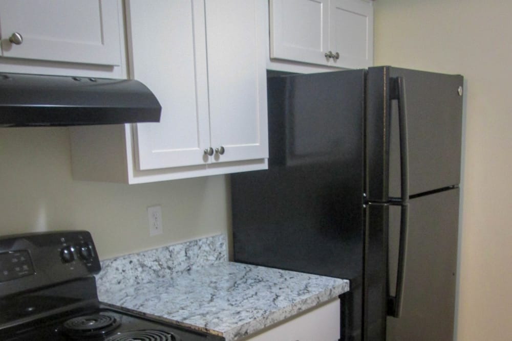 Premium Kitchen Package with Black Appliances at Village Green Apartments in Evansville, IN