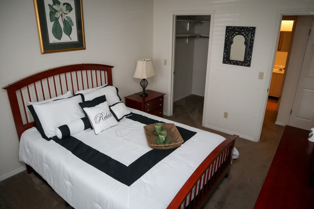 Spacious Bedrooms with Walk In Closets at Village Green Apartments in Evansville, IN