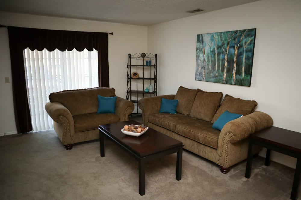 Open Concept Living Area at Village Green Apartments in Evansville, IN