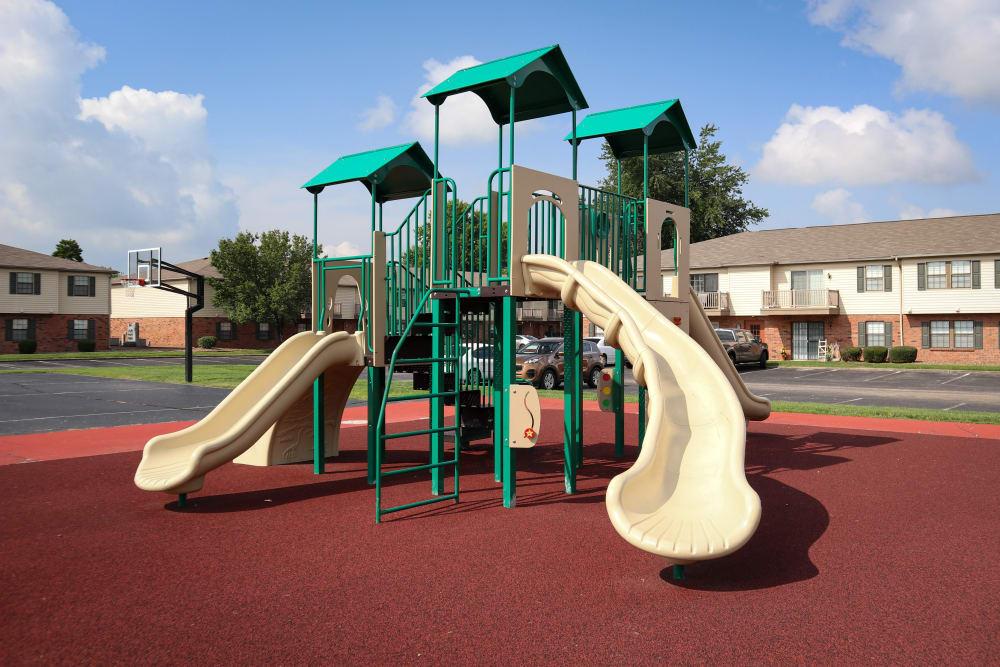 Playground at Village Green Apartments in Evansville, IN
