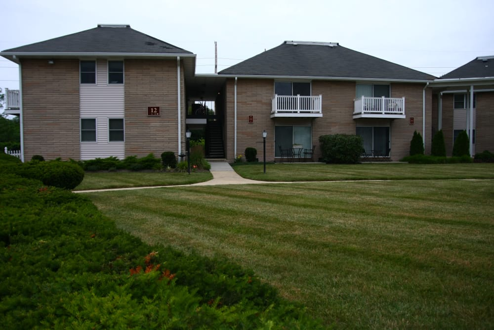 Exterior view at apartments building at The Heights at Spring Lake in Spring Lake, New Jersey