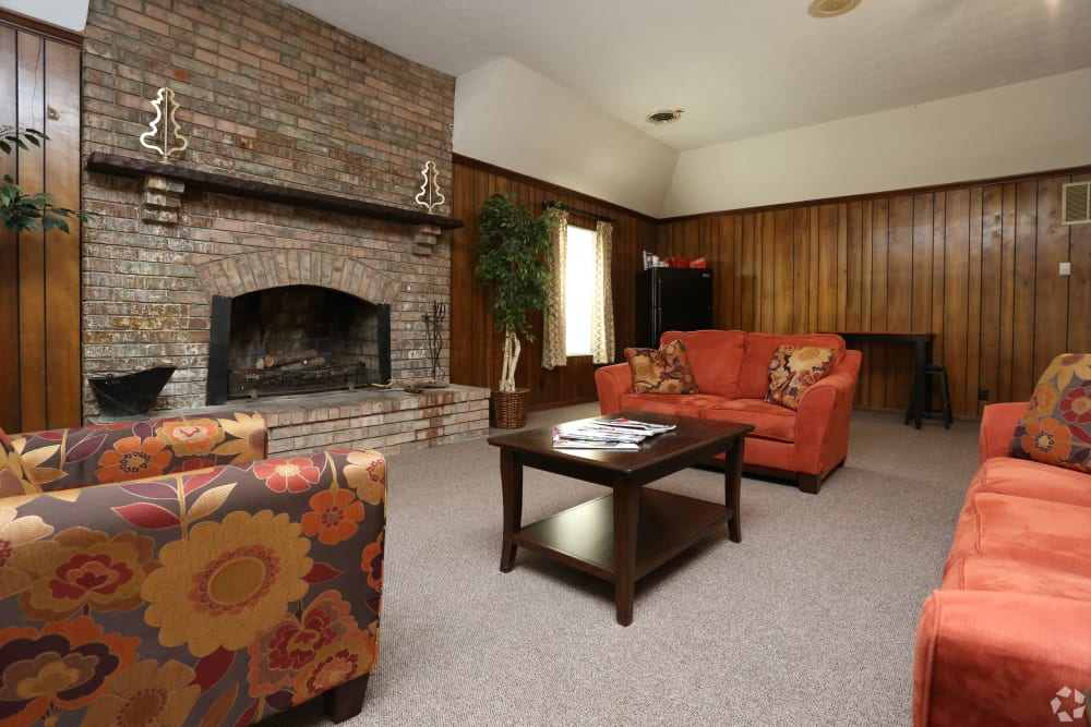 Spacious living room at apartments in Jeffersonville, Indiana